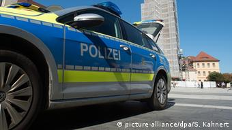 Полицейская машина в центре Бауцена