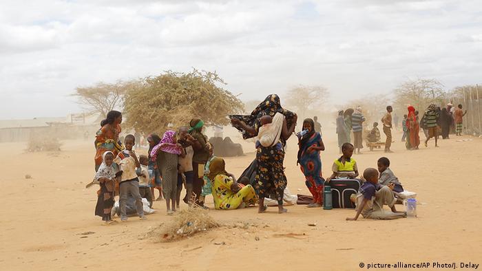 تعداد گریختگان کشور سومالی تقریبا به میزان گریختگان کشور کنگو است. کنیا بزرگترین کشور میزبان آنان است. اردوگاه پناهندگان داداب که در در شرق کنیا واقع است، تا چند سال پیش ازجمله بزرگترین اردوگاههای پناهندگی در جهان محسوب می شد. در حال حاضر هنوز ۲۰۰ هزار آواره در این اردوگاه بسر می برند.