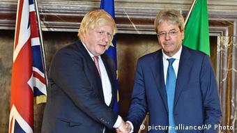 Italien - Außenminister UK und Italien: Boris Johnson und Paolo Gentiloni