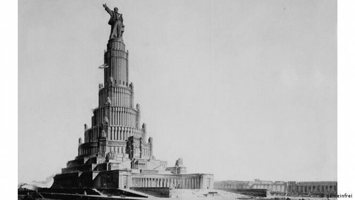 """Russland Palast der Sowjets Foto: Palast der Sowjets, nach Angaben des Online-Magazins """"moderneREGIONAL"""" ist die Abbildung gemeinfrei"""