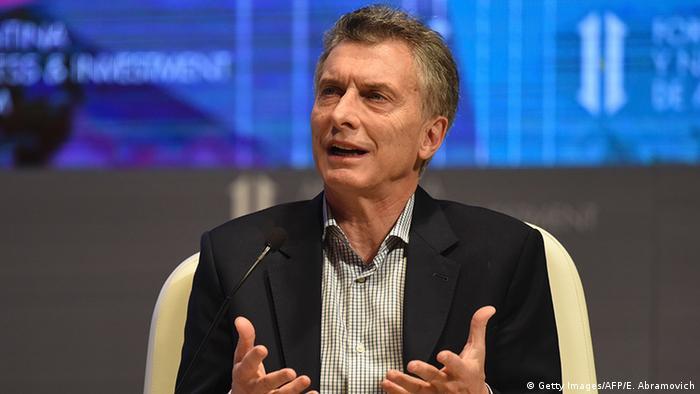 Argentinien Mauricio Macri Wirtschafts- und Investment-Forum in Buenos Aires
