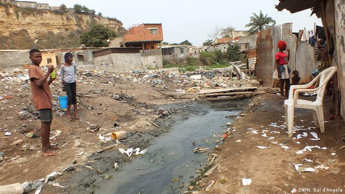 A slum in the Angolan capital Luanda