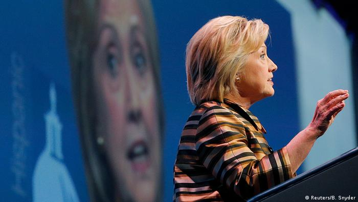 USA Rede Hillary Clinton in Washington