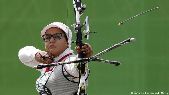 Rio 2016 Paralympics Bogenschießen Zahra Nemati
