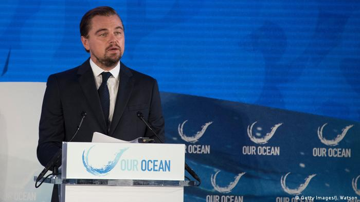 Leonardo Di Caprio Oceans Conference Washington DC (Getty Images/J. Watson)