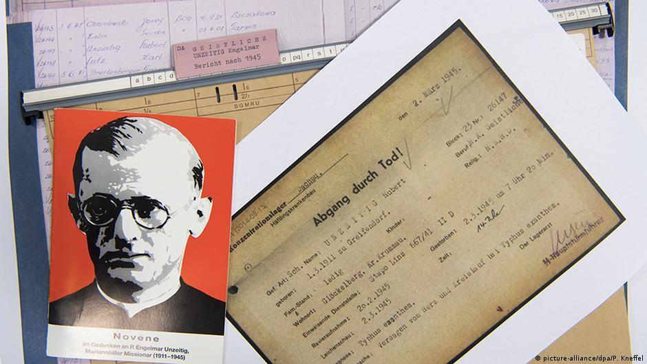 Документы из архива Энгельмара Унцайтига (Engelmar Unzeitig) в документационном центре бывшего концлагеря Дахау.