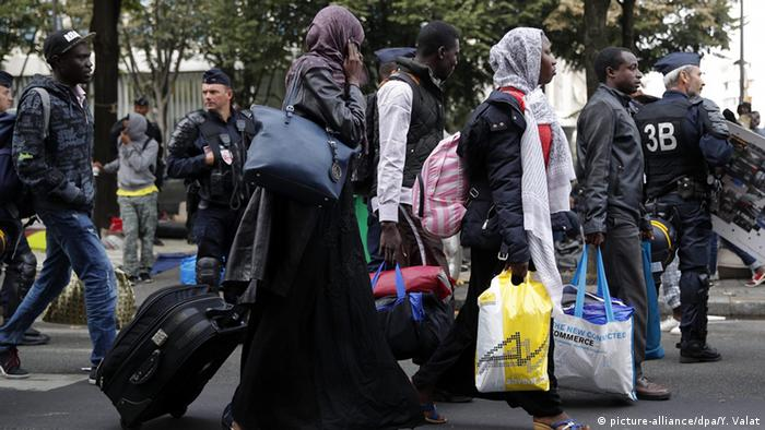 Migrants from Calais suffer another eviction from Paris' Avenue de Flandre. Thousands of refugees camped in the French capital hope to return to Calais.