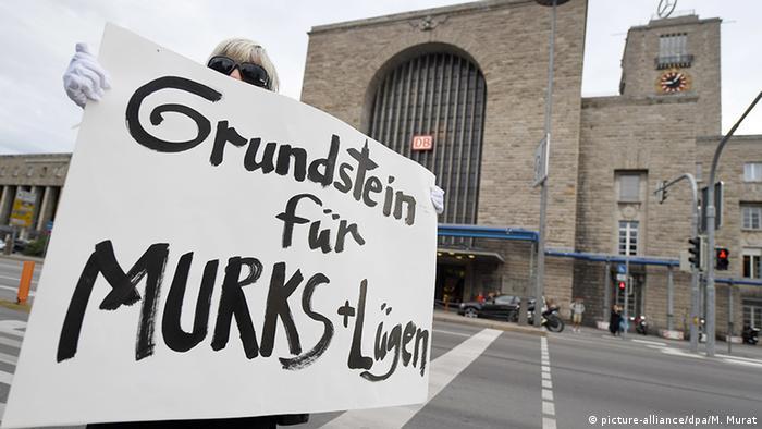 Deutschland Stuttgart 21 Grundsteinlegung Proteste