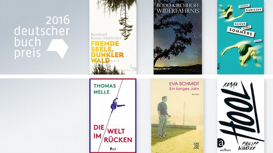 Shortlist: Die sechs Kandidaten für den Deutschen Buchpreis 2016