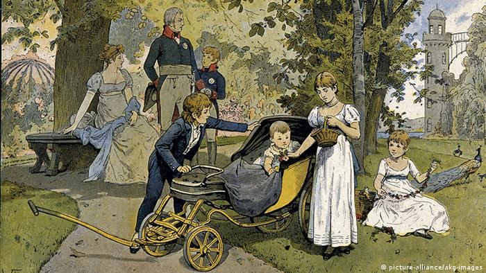Рисунок из серии о королеве Луизе художника Вольдемара Фридриха (1846-1910)