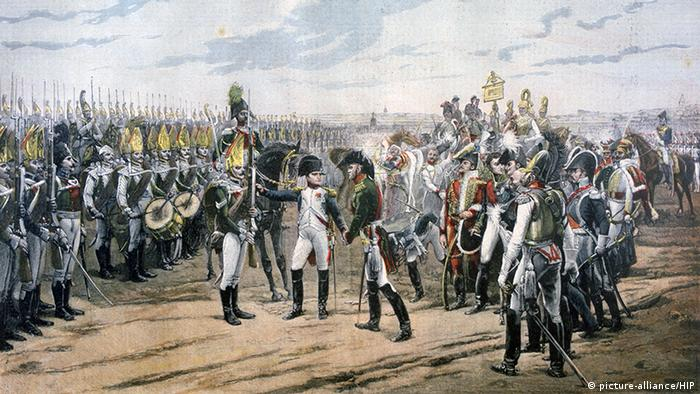 Illustration Napoleon in Tilsit (picture-alliance/HIP)