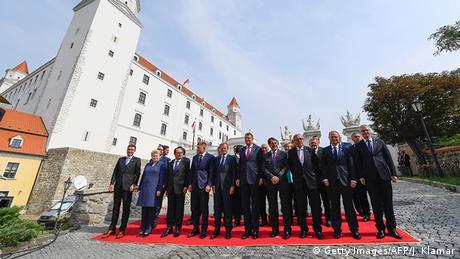Slowakei EU Gipfel in Bratislava Gruppenfoto