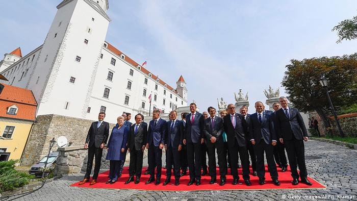 Group photo of the EU leaders at Bratislava