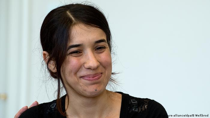 نادیا مراد در سال ۲۰۱۹ در یک کنفرانس مطبوعاتی در اشتوتگارت آلمان