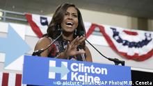 USA Michelle Obama Wahlkampfrede für Hillary Clinton in Fairfax
