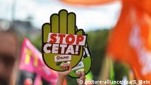 Demonstration Ceta TTIP in Stuttgart