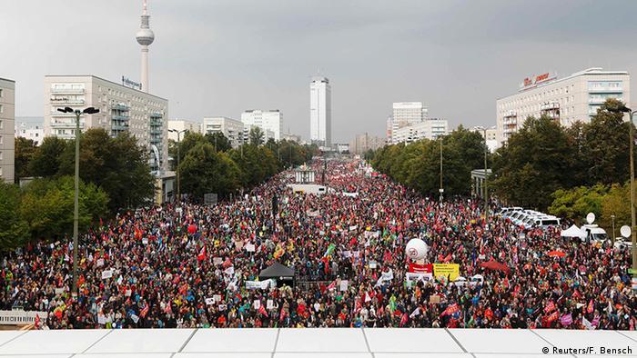 Deutschland Protest gegen TTIP & Ceta in Berlin