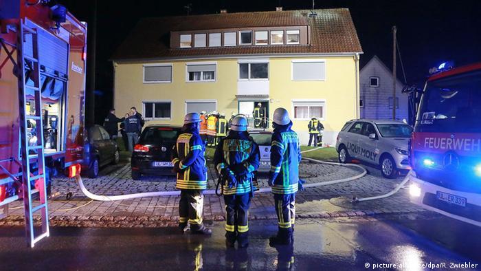 Feuer in Flüchtlingshaus in Erbach