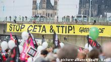 Demonstration gegen Ceta un TTIP in Köln