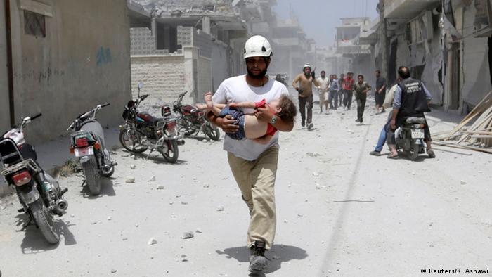Syrien neue Gefechte trotz Waffenruhe (Reuters/K. Ashawi)