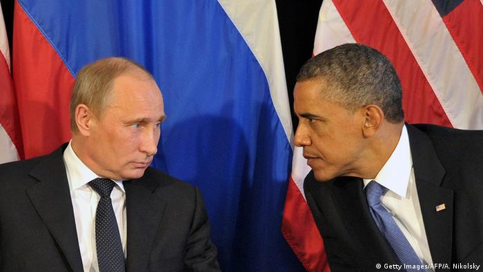 Mexiko G20 Gipfel Wladimir Putin und Barack Obama