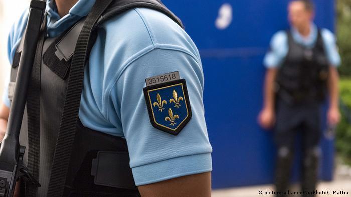 Frankreich Paris Polizei (picture-alliance/NurPhoto/J. Mattia)