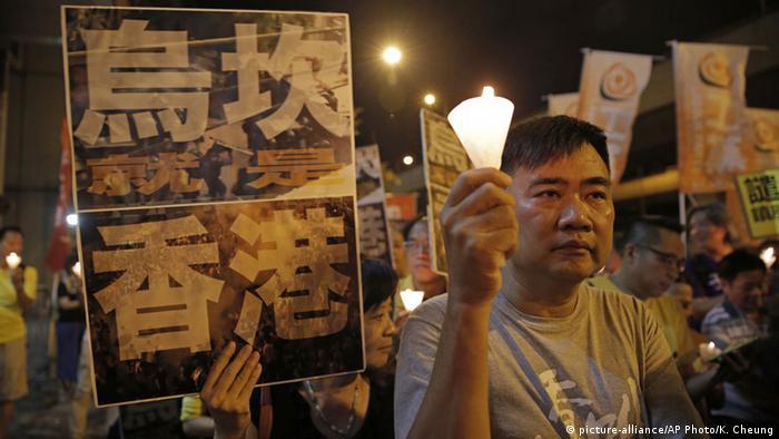 China Mahnwache Hongkong
