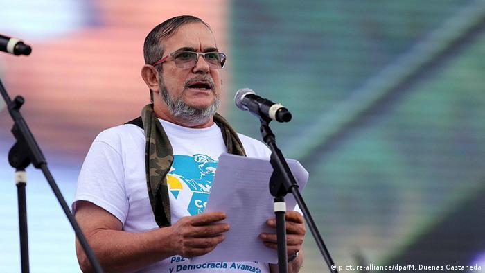Kolumbien FARC Nationale Guerilla Konferenz Rodrigo Londono Echeverri (picture-alliance/dpa/M. Duenas Castaneda)