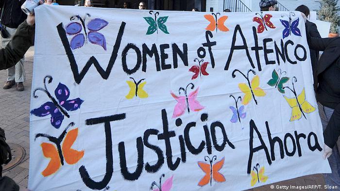 Washington Protest Amnesty International Mexiko Atenco Frauen