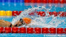 17/09/2016 2016 Rio Paralympics - Swimming - Women's 100m Fresstyle - S6 - Aquatic Stadium - Rio de Janeiro, Brazil - 17/09/2016. Yelyzaveta Mereshko of Ukraine competes REUTERS/Sergio Moraes NO SALES. FOR EDITORIAL USE ONLY. NOT FOR SALE FOR MARKETING OR ADVERTISING CAMPAIGNS. (c) Reuters/S. Morales