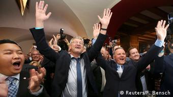Так лидеры АдГ праздновали успех на выборах в Берлине