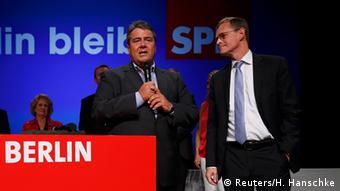 Михаэль Мюллер и Зигмар Габриэль, Берлин, 18 сентября 2016 г.