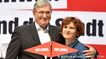 Berlin Wahlen zum Abgeordnetenhaus erste Wahlergebnisse Bernd Reixinger und Katja Kipping Die Linke