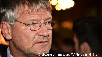 Jörg Meuthen, AfD co-chairman, says his party is on the way to the Bundestag, Germany's federal parliament.