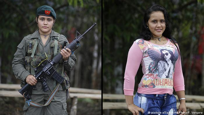 Kolumbien FARC Guerilla Sofia (picture-alliance/AP Photo/F. Vergara)