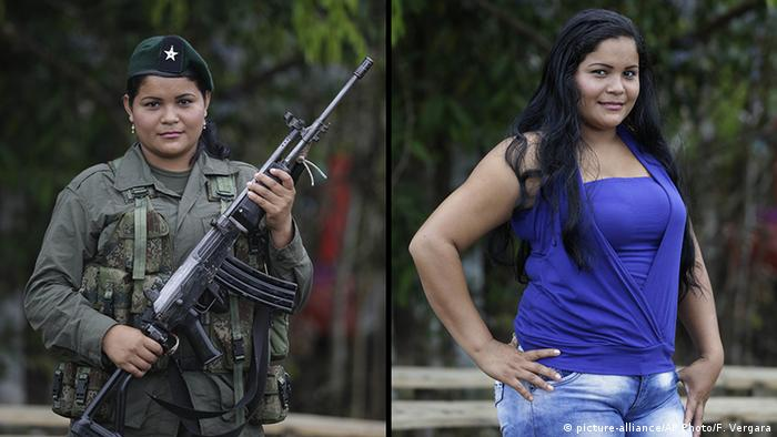 Kolumbien FARC Guerilla Derly (picture-alliance/AP Photo/F. Vergara)
