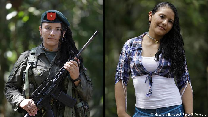 Kolumbien FARC Guerilla Yeimi (picture-alliance/AP Photo/F. Vergara)