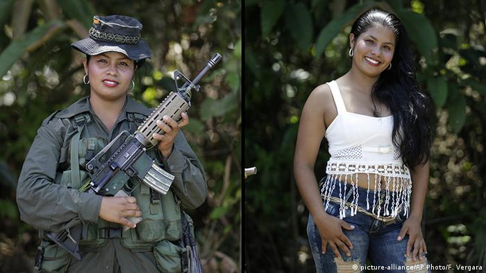 Kolumbien FARC Guerilla Johana (picture-alliance/AP Photo/F. Vergara)