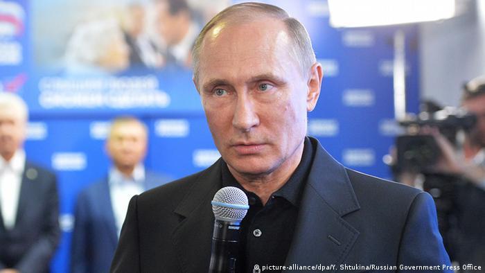 Russland Parlamentswahlen Putin Wahlparty