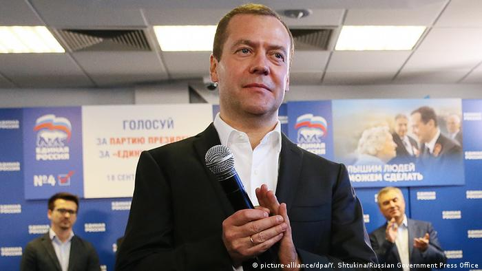 Russland Parlamentswahlen Medwedew Wahlparty