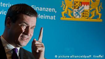 München bayerischer Finanzminister Markus Söder