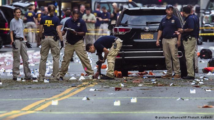 Debris from Manhattan explosion