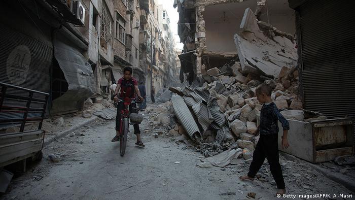 Syrien Luftangriff auf Aleppo