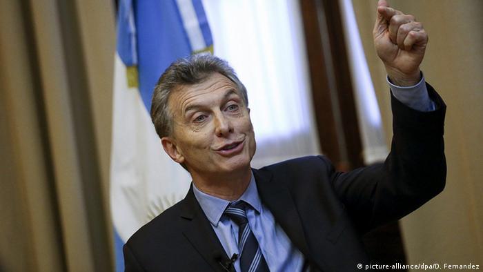 Argentinien Präsident Mauricio Macri