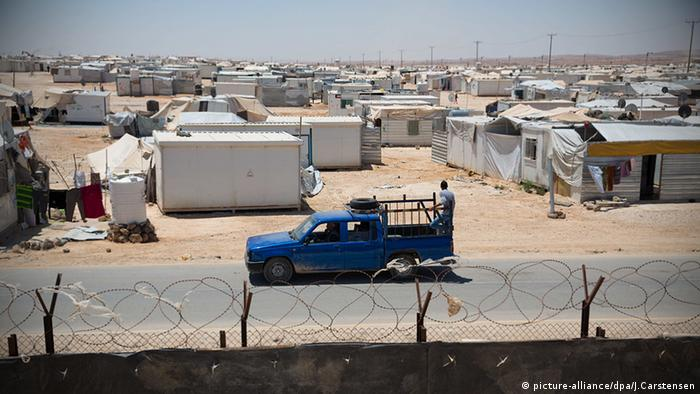 Saatari refugee camp in Jordan