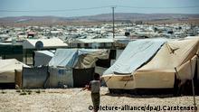 Flüchtlingslager Saatari in Jordanien