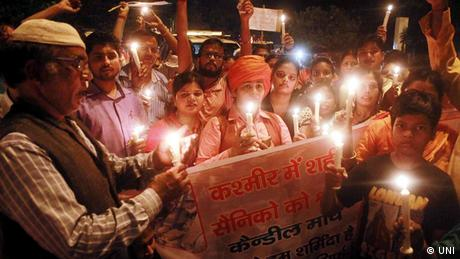 Indien Lal Chowk Srinagar - Nach Uri Terrorangriff (UNI)