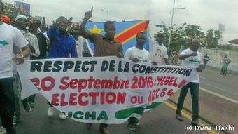 Demokratische Republik Kongo Proteste in Kinshasa