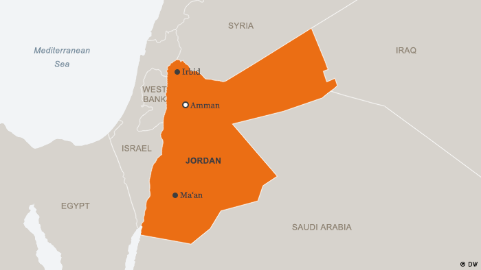 Map of Jordan (photo: DW)