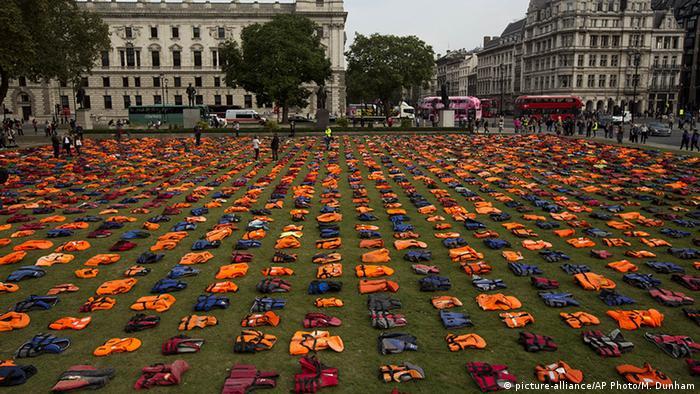 Lifejacket Graveyard campaign in London